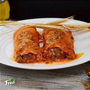 Panqueca Integral de Beterraba com Carne Moída