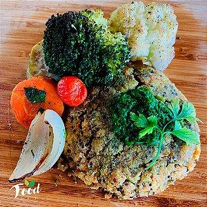 Hambúrguer Vegano com Legumes