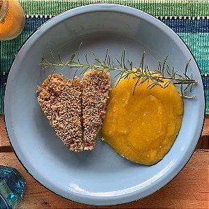 Comida Congelada – Tilápia com Crosta de Quinoa e Purê de Mandioquinha – 250g – FoodLev