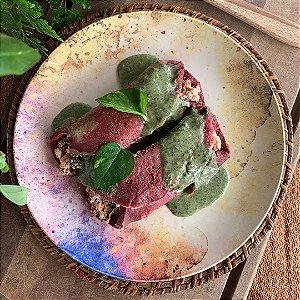 Comida Congelada – Panqueca Rosa de Ricota com Espinafre e Cenoura – 350g – FoodLev