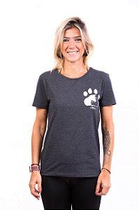 Camiseta Havi Equilíbrio Animal Grafite Feminina
