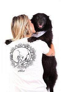 Camiseta Havi Mandala Milka Off White Feminina