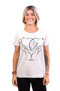 Camiseta Havi Love&Care Mescla Feminina