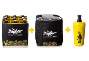 Kit Bagbeer - Bolsa Térmica + Bolsa Engradado + Brinde: Porta garrafa térmico