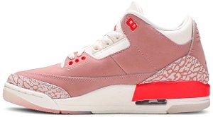 """Air Jordan 3 Retro Wmns """"Rust Pink"""" Feminino"""