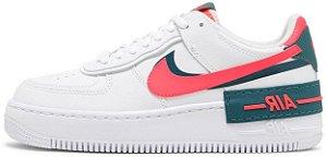 "Nike Air Force 1 Shadow ""White Solar Red"" Feminino"