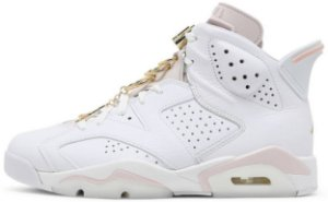 """Air Jordan 6 Retro Wmns """"Gold Hoops"""" Feminino"""