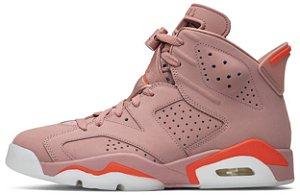 "Air Jordan 6 Retro Wmns x Aleali May ""Millennial Pink"" Feminino"