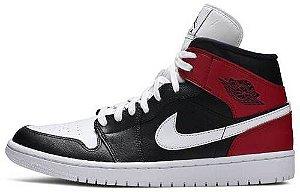 """Air Jordan 1 Mid Wmns """"Noble Red"""" Feminino"""