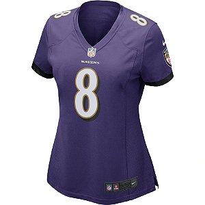 Camisa NFL Nike Baltimore Ravens Feminina - Roxo