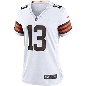 Camisa NFL Nike Cleveland Browns Feminina - Branco