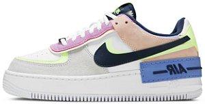 """Nike Air Force 1 Shadow """"Crimson Tint Volt"""" Feminino"""