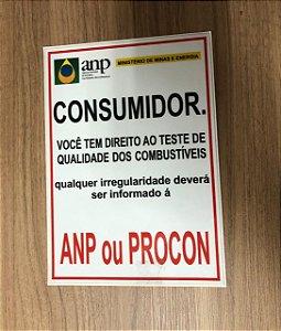 Adesivo ANP consumidor