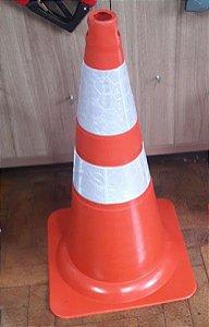 Cone flexível Refletivo 75CM