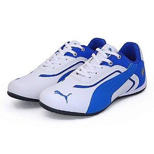 Tênis Puma Ferrari Branco/Azul