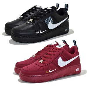 Kit 2 Pares Tênis Nike Air Force 1 TM Preto + Bordô