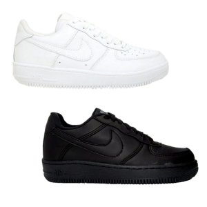 Kit 2 Pares Tênis Nike Air Force Branco + Preto Feminino
