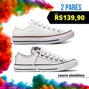 Combo 1 All Star Couro Sintético + 1 All Star Lona