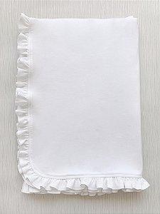 Manta Branca com Babado em Algodão Pima Peruano