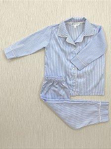 Pijama Comprido Listras em Algodão Pima Peruano