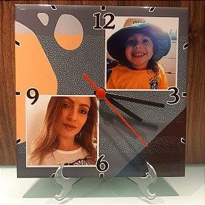 Relógio personalizado em azulejo 20x20