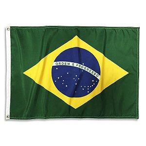 Bandeira Oficial Brasil dupla face 90x128cm