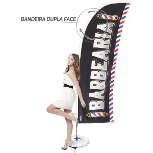 Kit WindBanner Dupla Face para Barbearia com Envio Imediato modelo 1