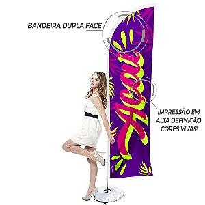 """WindBanner Completo (Estrutura Original WindBanner desmontável + Base em """"X"""" com bolsa para areia + Bandeira Wind Dupla Face) Arte AÇAÍ modelo 1"""