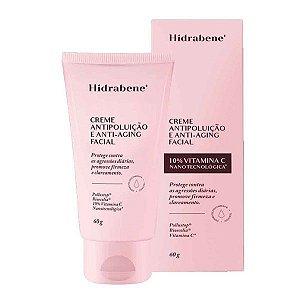 Creme Antipoluição e Anti-aging Facial 10% Vitamina C Hidrabene 60g