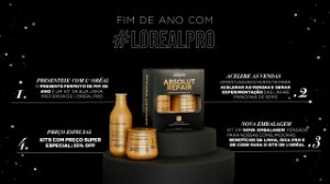 Kit Edição Limitada L'Oréal Professionnel Serie Expert Absolut Repair Gold Quinoa + Protein Shampoo 300ml + Máscara 250g