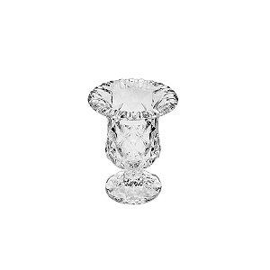 Vaso com Pe de Vidro Diamond 14,5x11,5cm LYOR