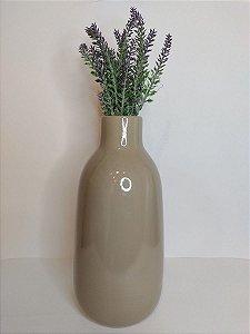 Vaso Madagascar Bege de Ceramica 14x28cm