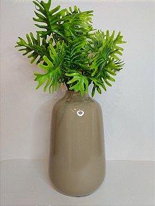 Vaso Madagascar Bege de Ceramica 14x23cm