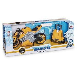 Moto de Brinquedo Wash Garage Moto Sport