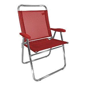 Cadeira de Praia King Vermelho 140kg ZAKA