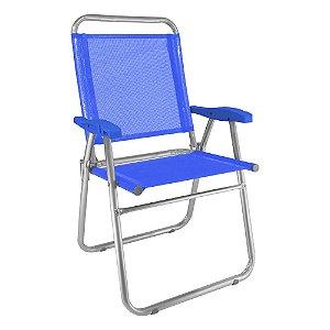 Cadeira de Praia Cancun Plus Azul 120kg ZAKA