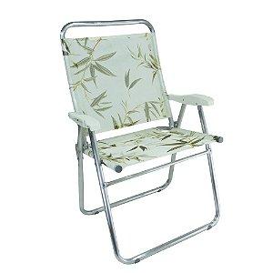 Cadeira de Praia King Colors Bambu 140kg ZAKA