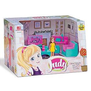 Colecao Judy Com Boneca Sala Completo