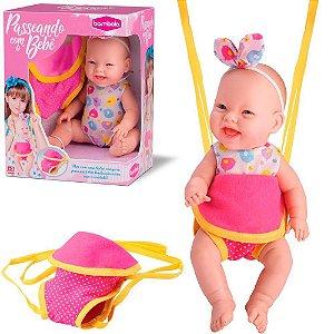 Boneca Passeando Com o Bebe
