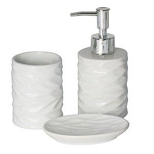 Conjunto Banheiro 3 Pecas Ceramica Cannes Branco LYOR