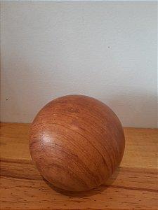 Bola Decorativa Ceramica Textura Madeira 9cm