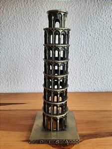 Torre de Pisa Decorativa 7,5X7,5X19,5cm