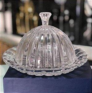 Queijeira de Cristal com Tampa Renaissance 20x13cm
