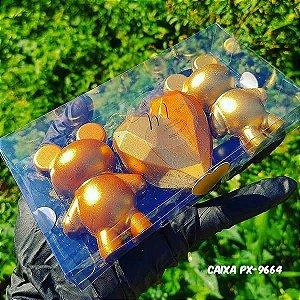 Forma para Chocolate com Silicone Urso Pequeno Ref. 9935 BWB 1unid