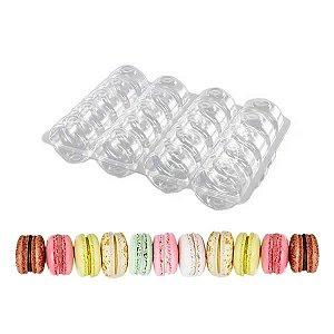 Caixa Blister com 20 Cavidades para Macarons e Amanteigados Ref.ACMA20 (21,5x15,5x4 cm) 10unid