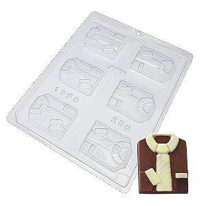 Forma para Chocolate Gravata Dia dos Pais 20g Ref. 1358 BWB 10unid