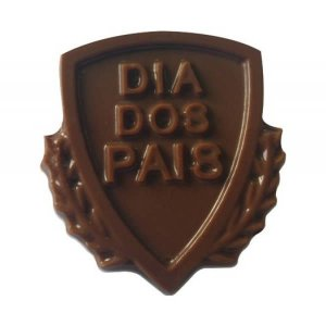 Forma para Chocolate Escudo Dia dos Pais 10g Ref. 9424 BWB 10unid
