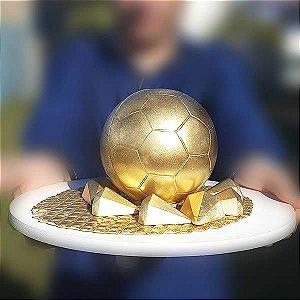 Forma para Chocolate com Silicone Bola de Futebol 500g Dia dos Pais Ref. 1400 BWB 1unid