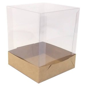 PMB-1 Kraft (10x10x12.5 cm) 10unid Caixa de Acetato