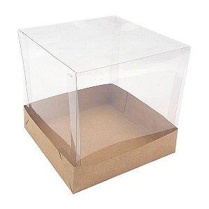 PMB-2 Kraft (10x10x10 cm) 10unid Caixa Quadrada Cubo 10cm Caixa de Acetato Quadrada